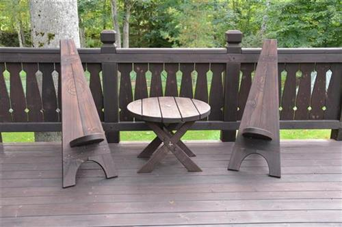 3 Radi Wooden Outdoor Furniture Solid Wood Stairs