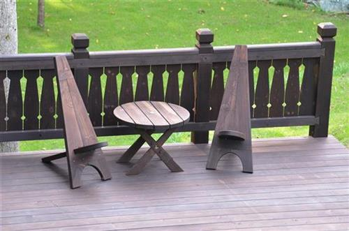 3 RADI. Wooden Outdoor Furniture, Solid Wood Stairs